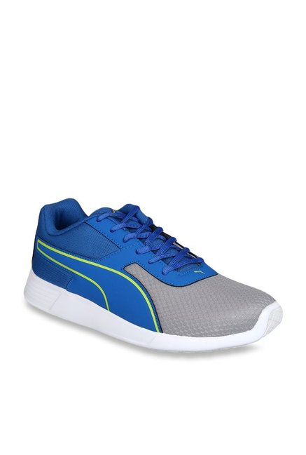 Buy Puma Kor IDP Blue   Grey Running Shoes for Men at Best Price   Tata CLiQ b0f2bb453