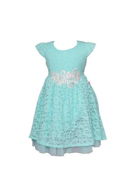 0b0efe803b9e Buy Peppermint Sea Green Lace Dress for Girls Clothing Online ...