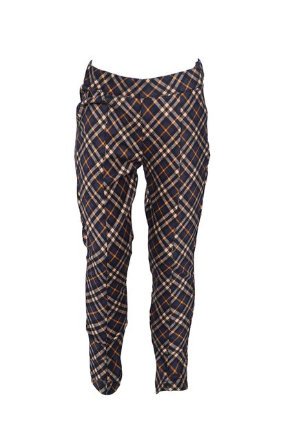 dab4d49d Buy Peppermint Navy & Beige Plaid Jeggings for Girls Clothing Online @ Tata  CLiQ