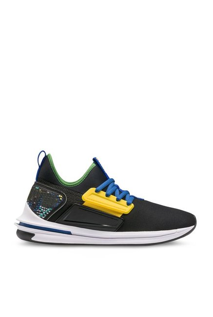 735d1d9d339f07 Buy Puma Ignite Limitless SR FM Black   Yellow Running Shoes for Men at  Best Price   Tata CLiQ