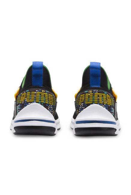 06868d290f52 Buy Puma Ignite Limitless SR FM Black   Yellow Running Shoes for Men ...