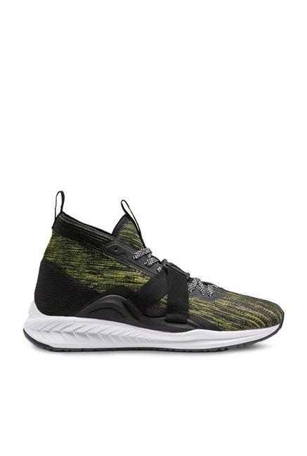 54c96af384e Buy Puma Ignite evoKNIT 2 City Light Black   Yellow Running Shoes for Men  at Best Price   Tata CLiQ