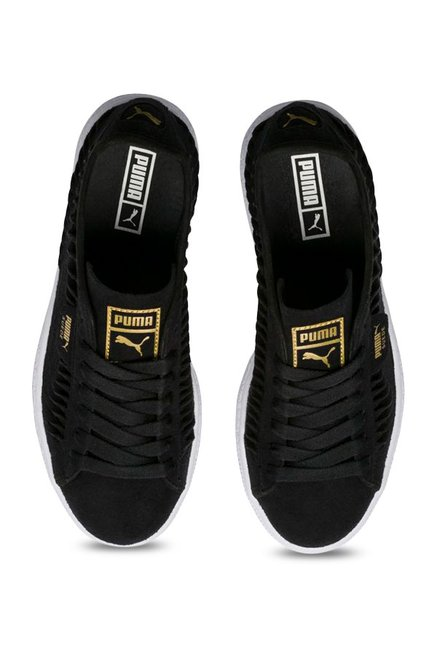 best loved 3d987 60575 Buy Puma Metallic Entwine Black & Team Gold Sneakers for ...