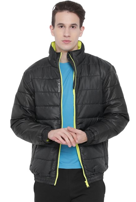 Ladrillo tempo Hospitalidad  Buy Reebok Black High Neck Quilted Jacket for Men Online @ Tata CLiQ