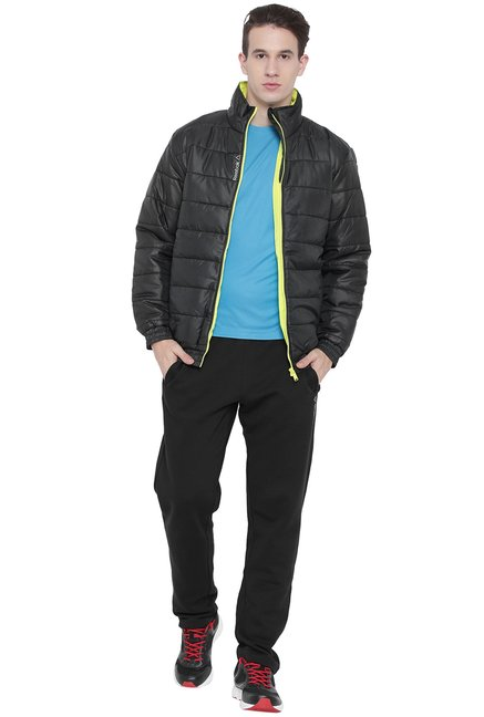 ff124e254 Buy Reebok Black High Neck Quilted Jacket for Men Online   Tata CLiQ