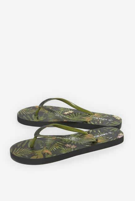 16a441ab61c4f Buy LUNA BLU by Westside Olive Leafy Flip-Flops For Women Online At ...