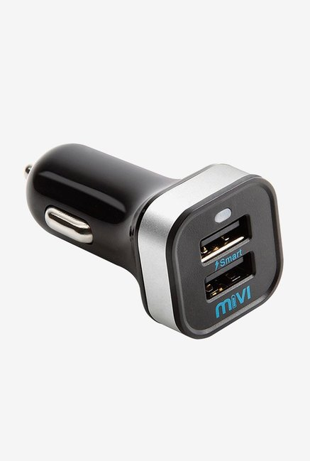 Mivi Smart Charge 3.4A Dual Port Car Charger  Black