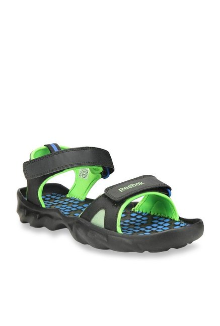 086a8438 Buy Reebok Black & Green Floater Sandals for Men at Best Price ...