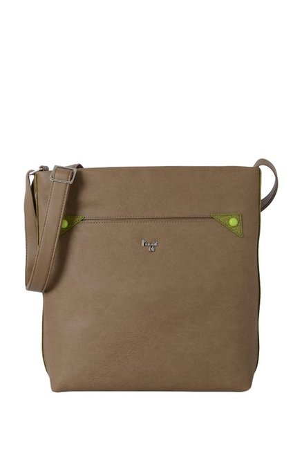 Baggit Rigma Light Brown Solid Sling Bag