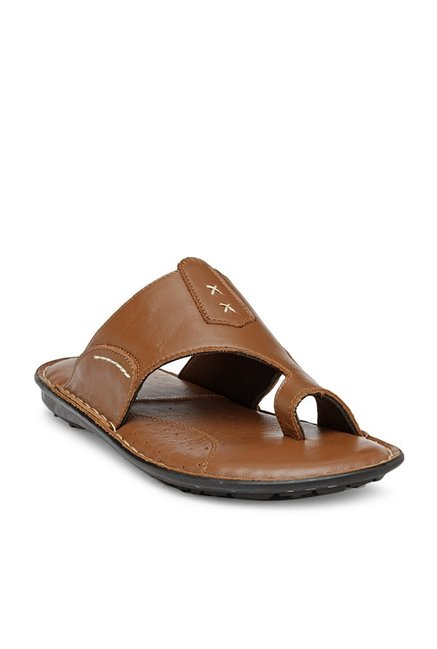 9c5f40713ee Buy Teakwood Leathers Tan Toe Ring Sandals for Men at Best Price ...