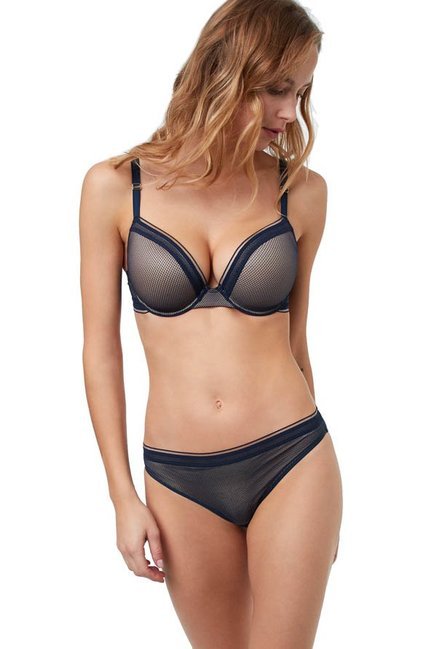 ETAM Paris Navy Classique Under-Wired Padded T-Shirt Bra