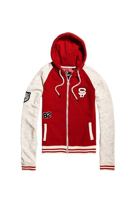 Superdry Red Regular Fit Hoodie