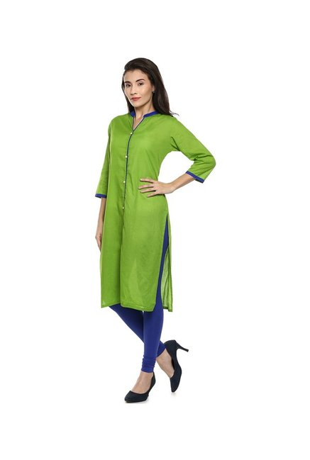 Soch Green Regular Fit Cotton Kurta