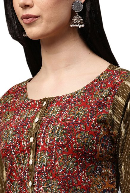 Jaipur Kurti Multicolor Printed Cotton Kurta
