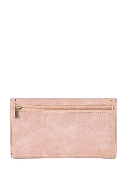 Baggit Mark Rose Pink Stitched Flap Wallet