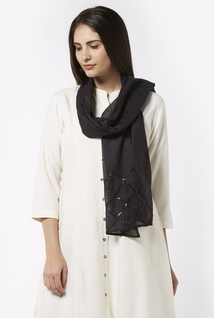 Zuba by Westside Black Dupatta