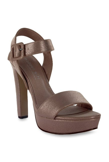 2d931fc06483 Buy Madden Girl Rolloo Rose Gold Ankle Strap Sandals for Women at ...