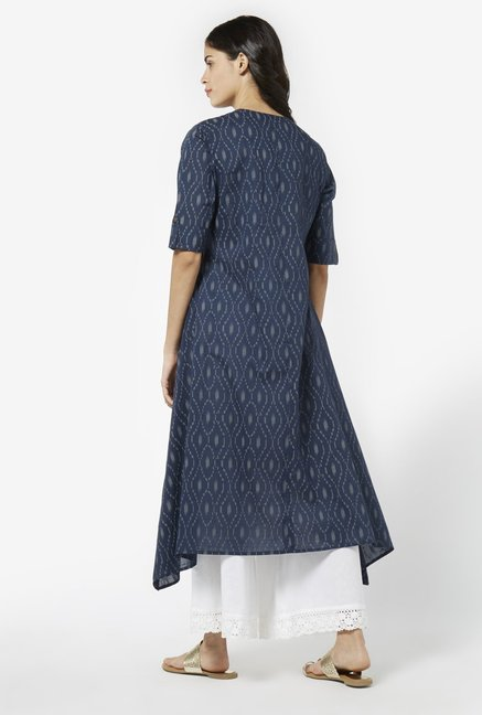 Utsa by Westside Indigo Pure Cotton Kurta