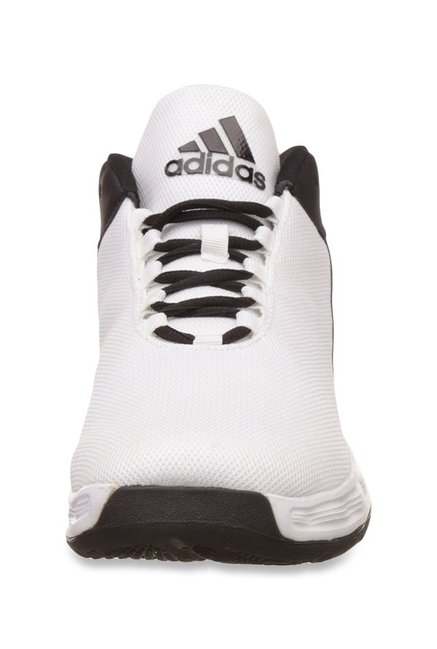 6d9b599ba26f Buy Adidas Hoopsta White   Black Basketball Shoes for Men at Best ...