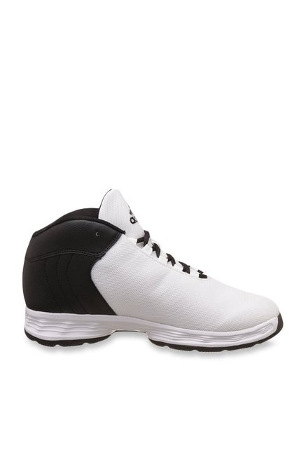 timeless design 10bbc ca718 Buy Adidas Hoopsta White   Black Basketball Shoes for Men at Best Price    Tata CLiQ