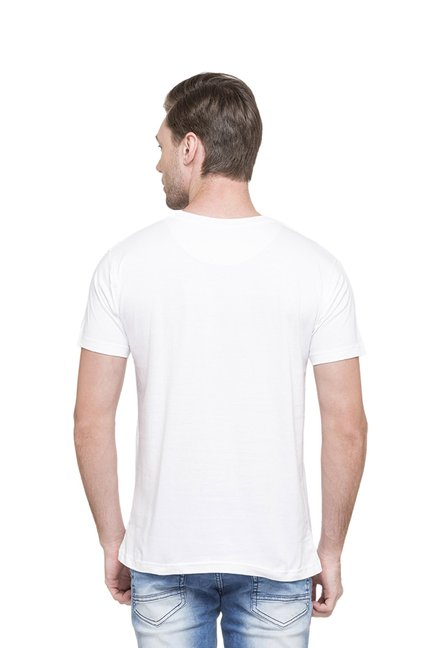 Globus White Printed T-Shirt