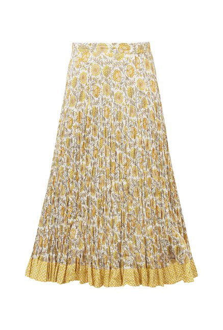 Utsa by Westside Yellow Maxi Skirt