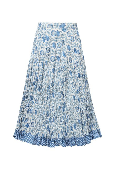 Utsa by Westside Blue Pure Cotton Skirt