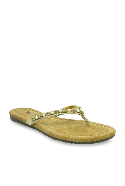 56bf6ebaf35a5 Buy Inc.5 Golden Thong Sandals for Women at Best Price   Tata CLiQ