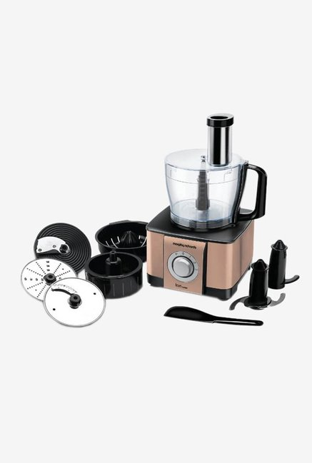 Morphy Richards Icon Superb 1000 Watt Food Processor (Glazing Copper Gold)