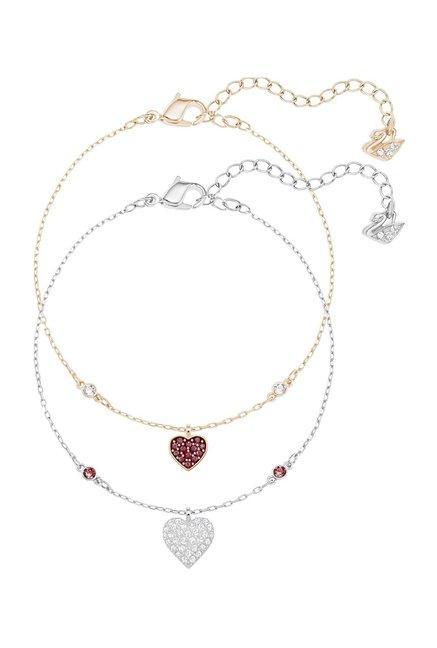 087bf22788f5 Buy Swarovski Crystal Wishes Heart Set Golden & Silver Charms ...