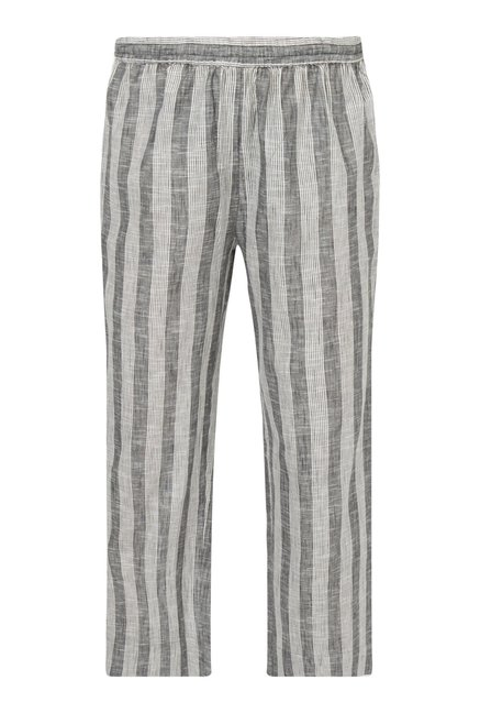 Utsa by Westside Grey Pure Cotton Palazzos