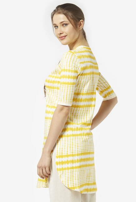 Zudio Yellow Pure Cotton Kurta