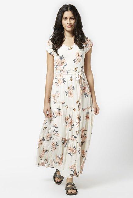 d6bd0344d1d1 Buy LOV by Westside Cream Max Dress for Women Online   Tata CLiQ