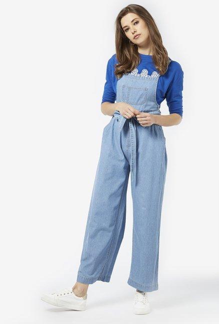 ca75e068e7d Buy Nuon by Westside Blue Pure Cotton Jumpsuit for Women Online ...