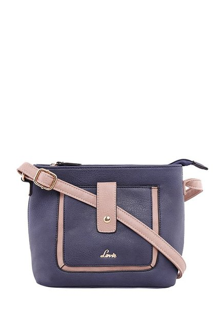 4d6728509fa Buy Lavie Jeffrey Navy Solid Sling Bag For Women At Best Price   Tata CLiQ