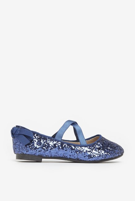 Buy Yellow by Westside Navy Glitter Ballet Flats For Kids Online At ... 423359bce