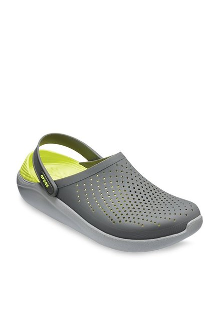 44598216d Buy Crocs LiteRide Slate Grey   Lime Green Back Strap Clogs for Men at Best  Price   Tata CLiQ