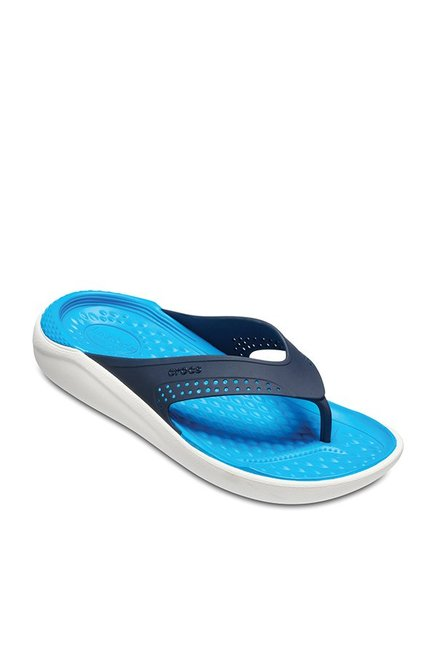 b395c351e Buy Crocs LiteRide Navy Blue Flip Flops for Men at Best Price   Tata CLiQ