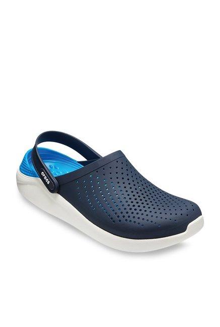 62345e0c8116b3 Buy Crocs LiteRide Navy Blue Back Strap Clogs for Men at Best Price   Tata  CLiQ