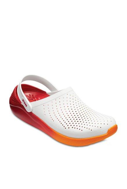 Buy Crocs LiteRide White \u0026 Red Back