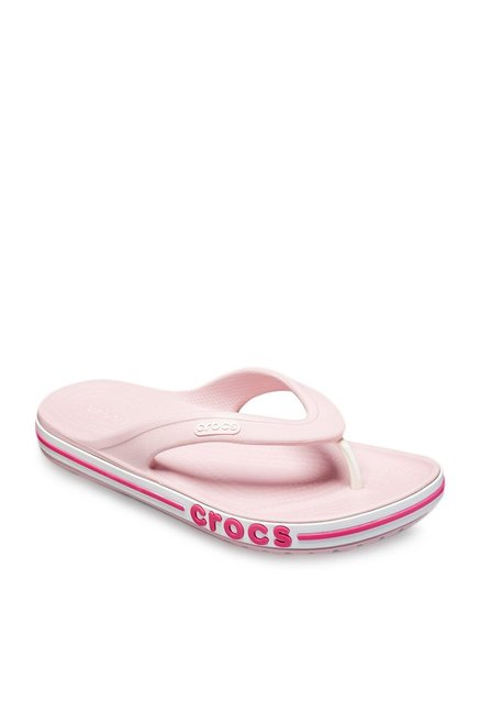 451a4fd75d7e0b Buy Crocs Bayaband Petal Pink Flip Flops for Men at Best Price   Tata CLiQ