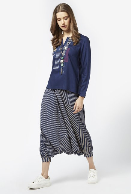 Bombay Paisley by Westside Dark Navy Kurti