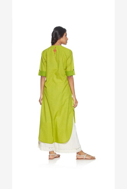 Utsa by Westside Lime Striped Kurta