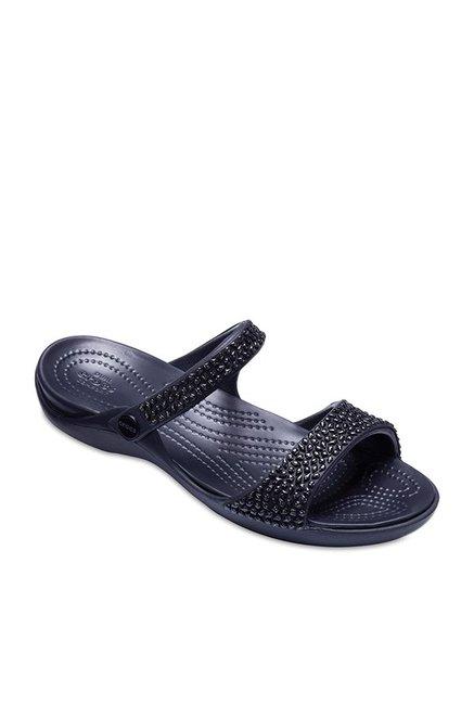 Crocs Cleo V Diamante Black Casual