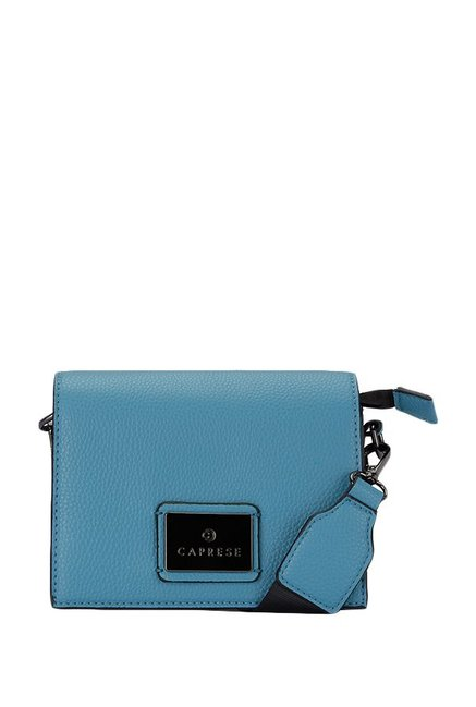 af15abf68 Buy Caprese Cuba Munsell Blue Solid Flap Sling Bag For Women At Best Price    Tata CLiQ