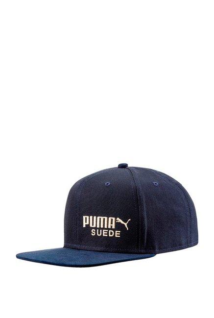 Puma Archive Peacoat Blue Solid Cotton Flatbrim Cap