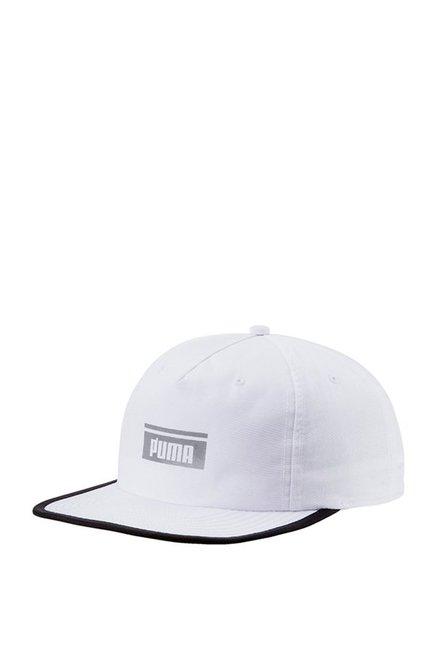 Puma Pace White Solid Nylon Baseball Cap