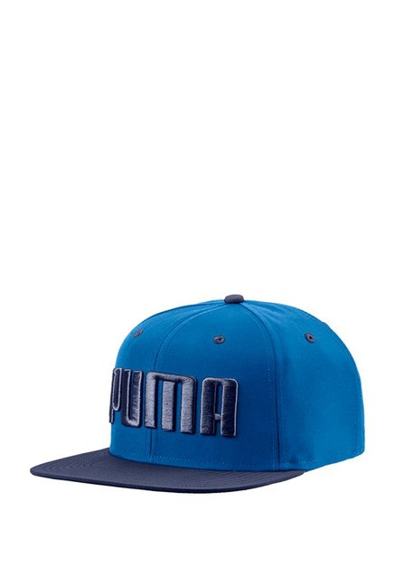 Puma Peacoat Blue Solid Polyester Baseball Cap