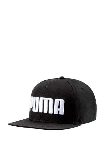 Puma Black Solid Polyester Baseball Cap