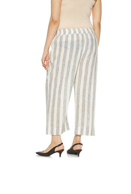 Diza curve by Westside Off White Pure Cotton Palazzos